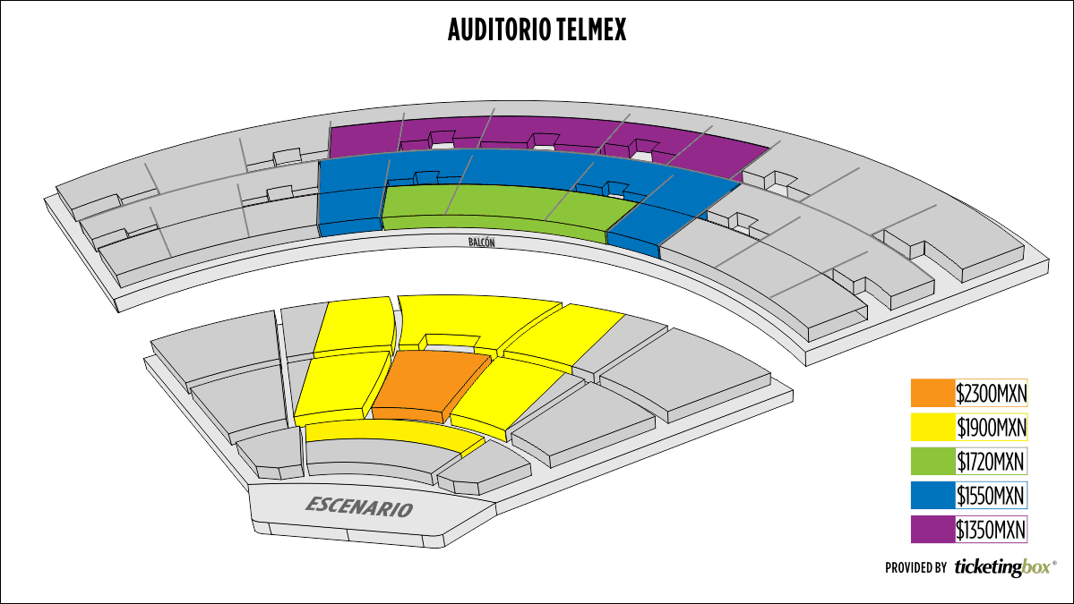 Shen Yun Guadalajara Auditorio Telmex Seating Chart