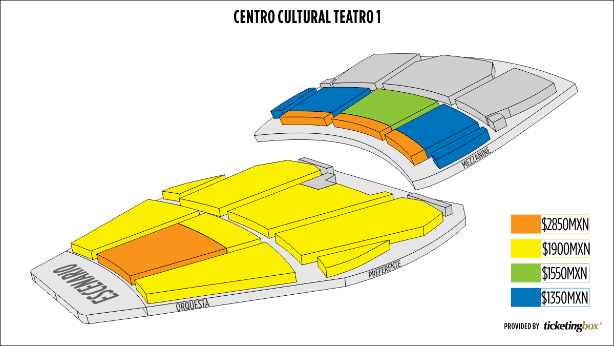 Shen Yun Mexico City Centro Cultural Teatro 1 Seating Chart