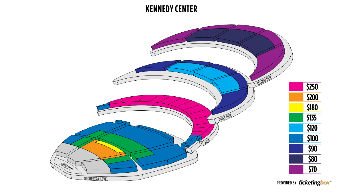 Shen Yun Washington, DC The Kennedy Center Opera House Seating Chart