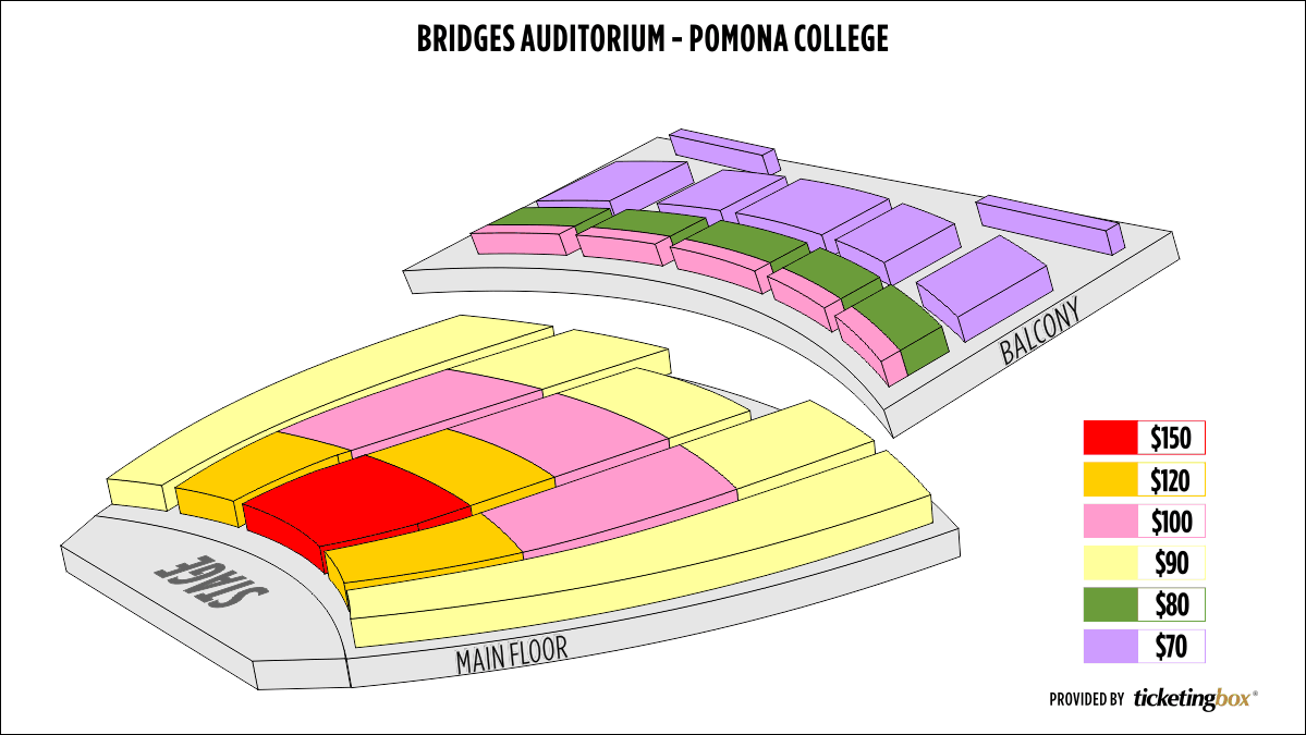 Shen Yun Claremont Bridges Auditorium - Pomona College Seating Chart