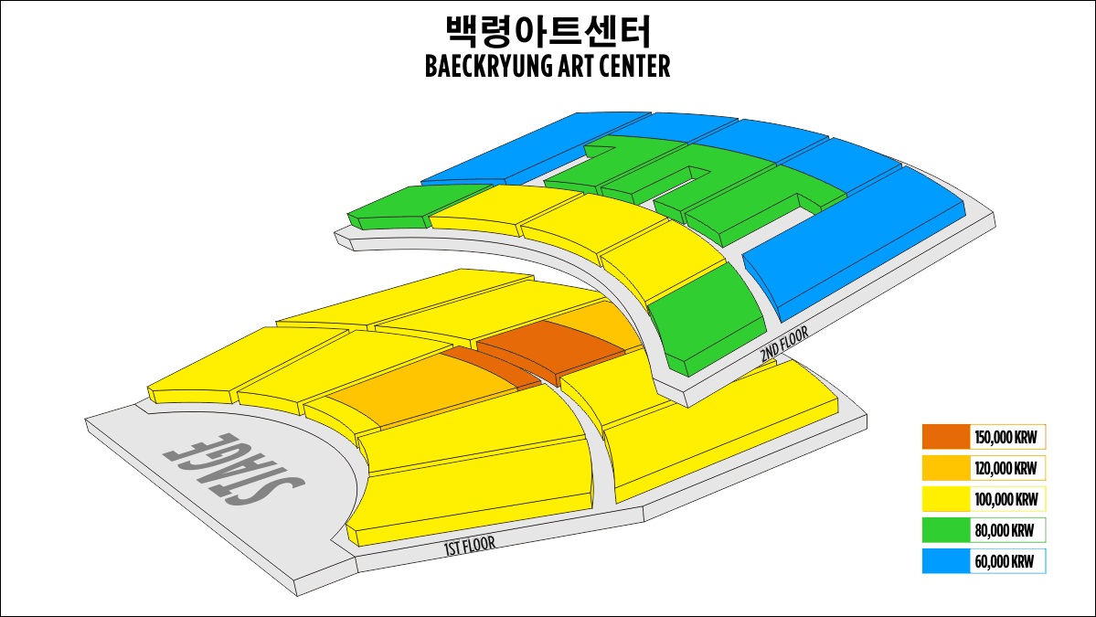 Shen Yun Chuncheon Baeckryung Art Center Seating Chart