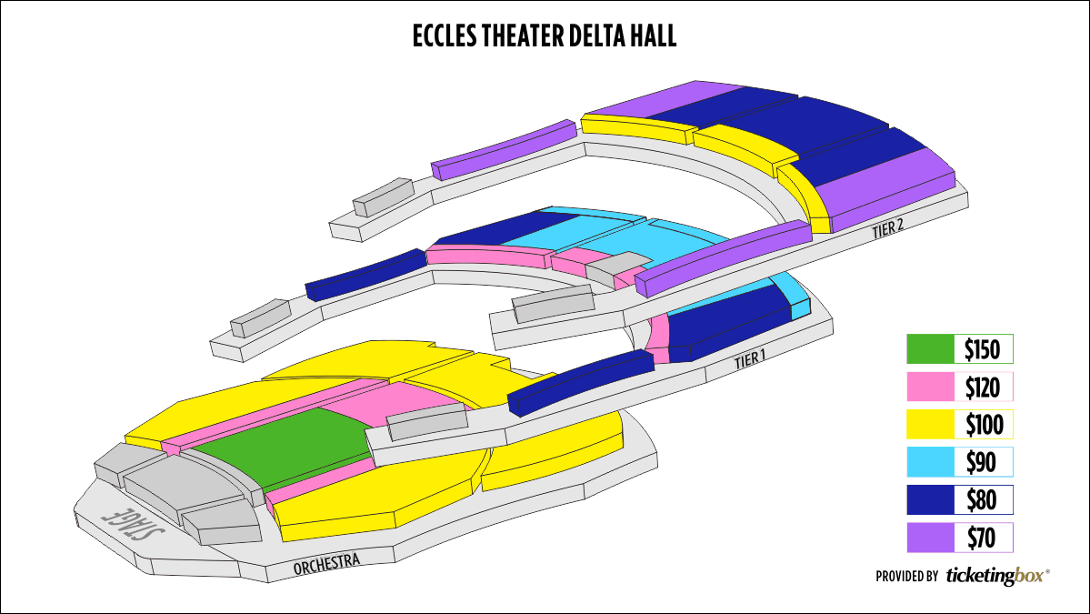 Shen Yun Salt Lake City George S. and Dolores Doré Eccles Theater Seating Chart