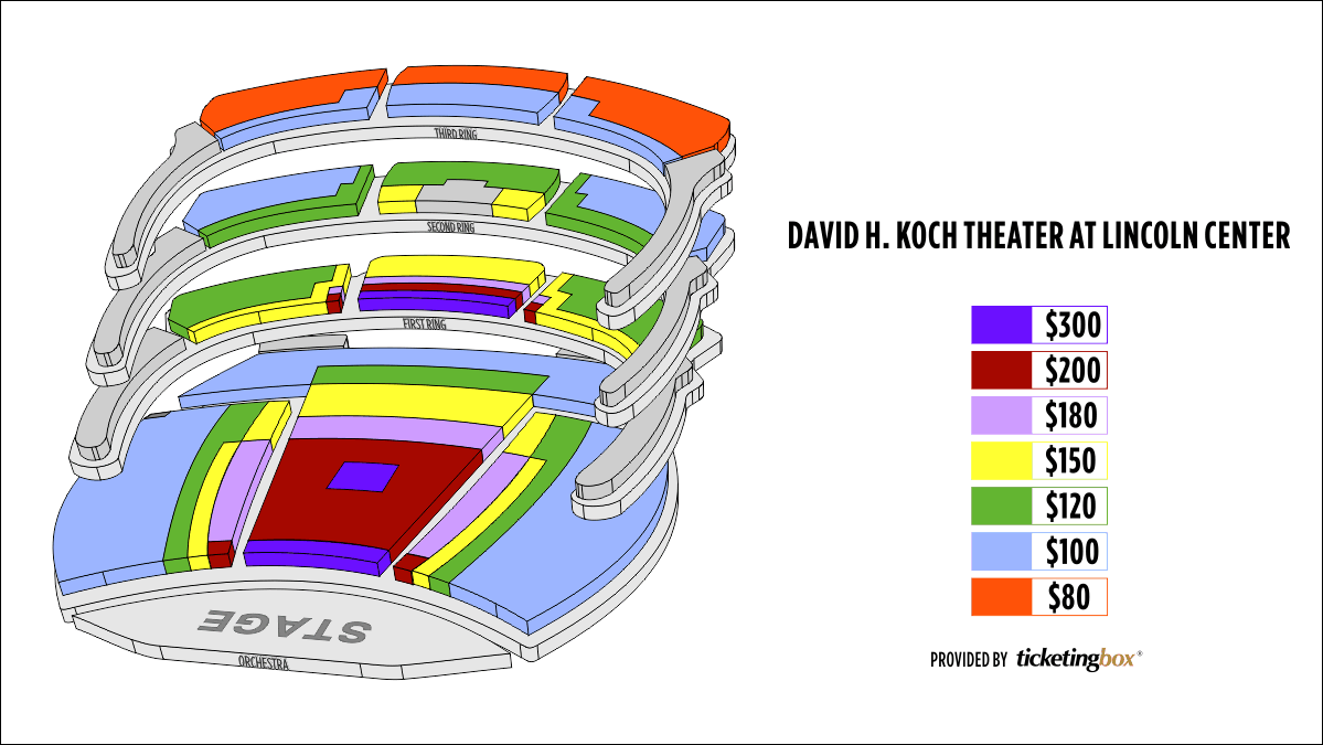 Shen Yun New York David H. Koch Theater, Lincoln Center Seating Chart