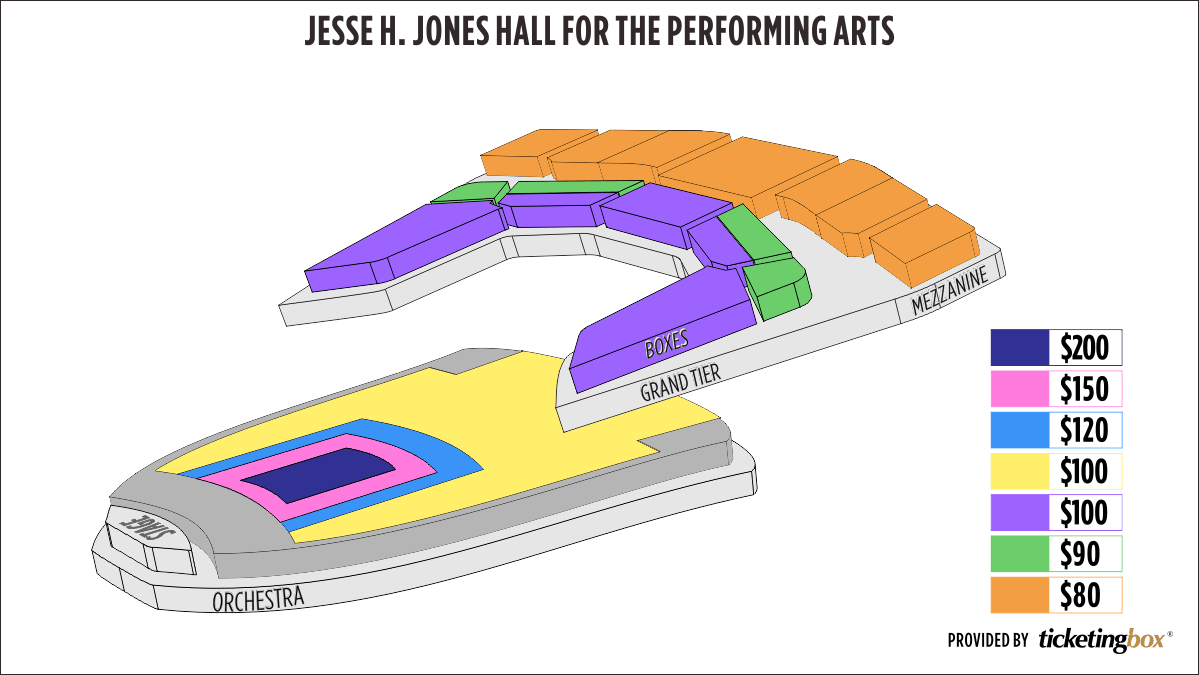 Shen Yun Houston–Jones Hall Jones Hall for the Performing Arts Seating Chart