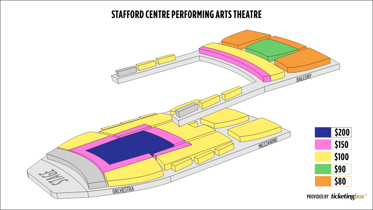 Shen Yun Houston–Stafford Centre Stafford Centre Seating Chart