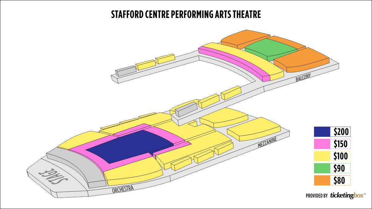Shen Yun Houston–Stafford Centre Stafford Centre Seating Chart