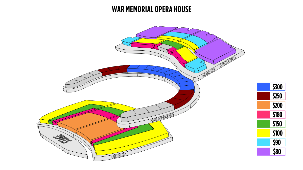 Shen Yun San Francisco San Francisco War Memorial Opera House Seating Chart