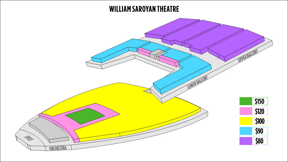 Shen Yun Fresno William Saroyan Theatre Seating Chart