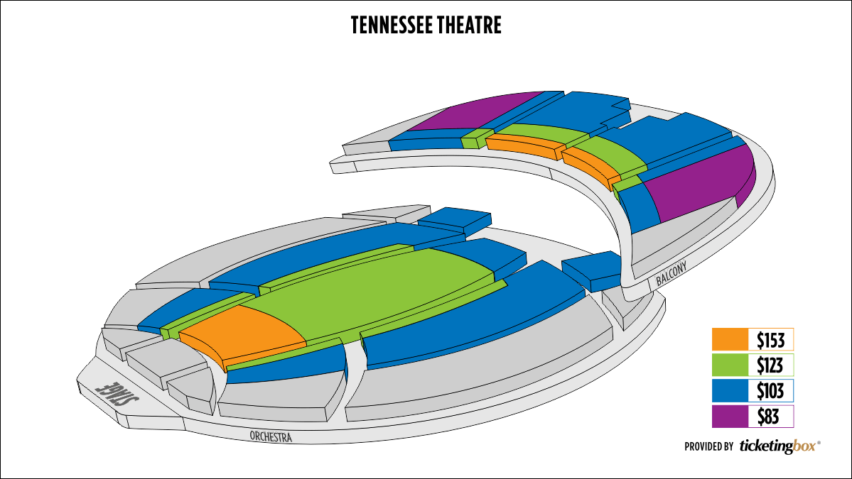 Knoxville tennessee theatre seating chart