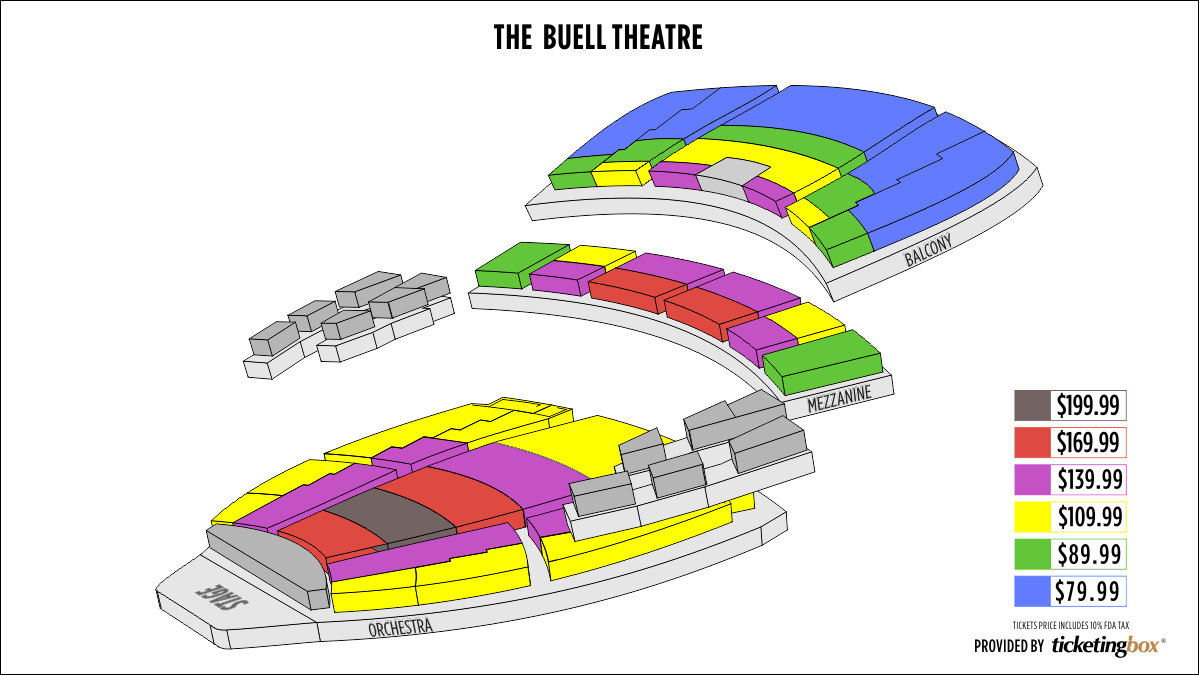 Denver the buell theatre seating chart