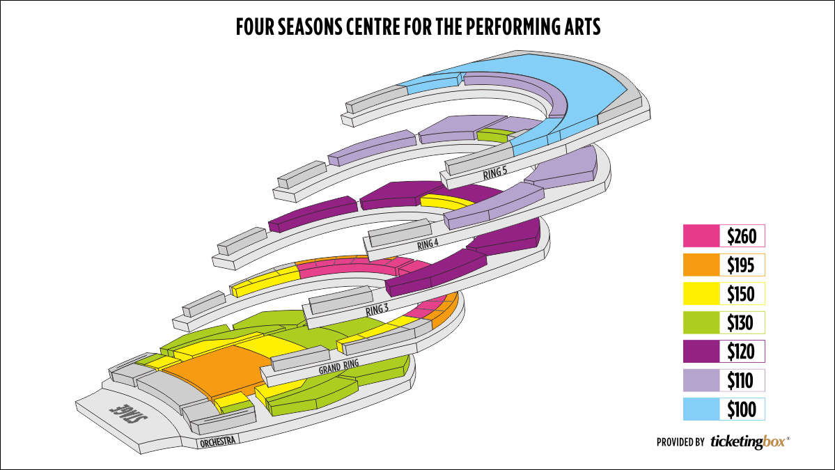 Shen Yun Toronto Four Seasons Centre for the Performing Arts Seating Chart