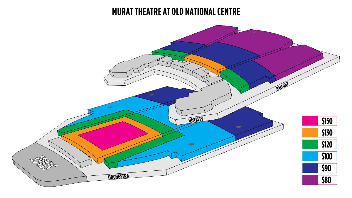Shen Yun Indianapolis Murat Theatre at Old National Centre Seating Chart