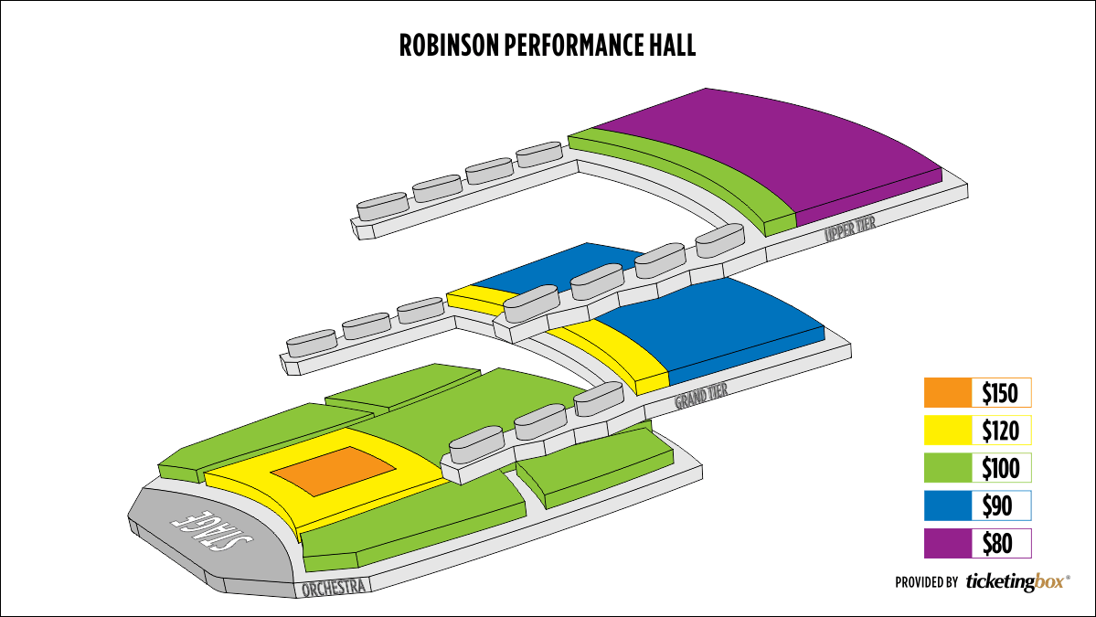 Shen Yun Little Rock Robinson Performance Hall Seating Chart
