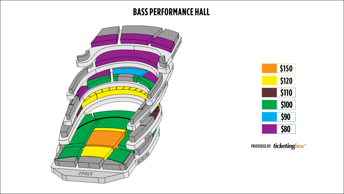 Shen Yun Fort Worth Bass Performance Hall Seating Chart