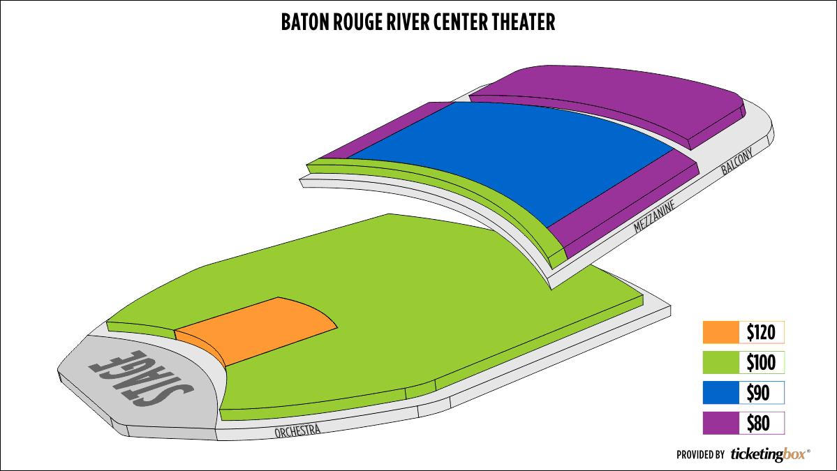 Baton rouge river center theater for performing arts seating chart