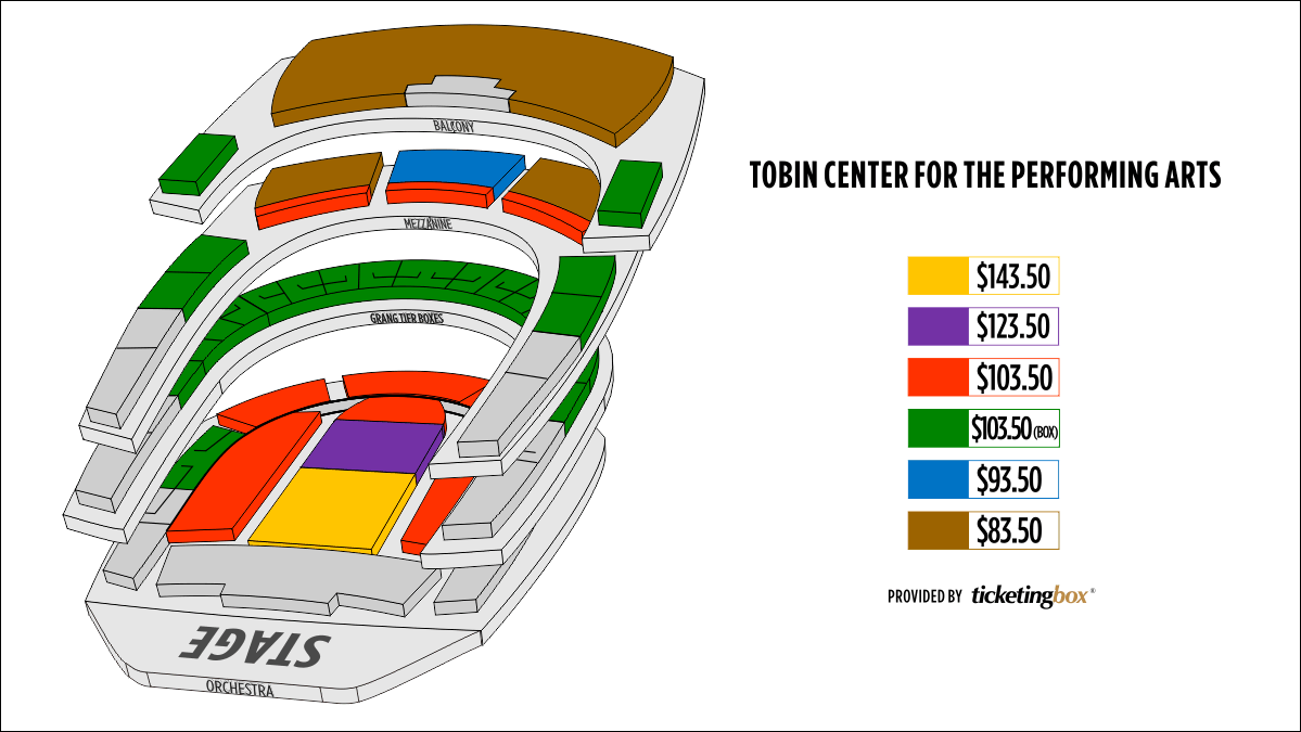 Shen Yun San Antonio Tobin Center for the Performing Arts Seating Chart