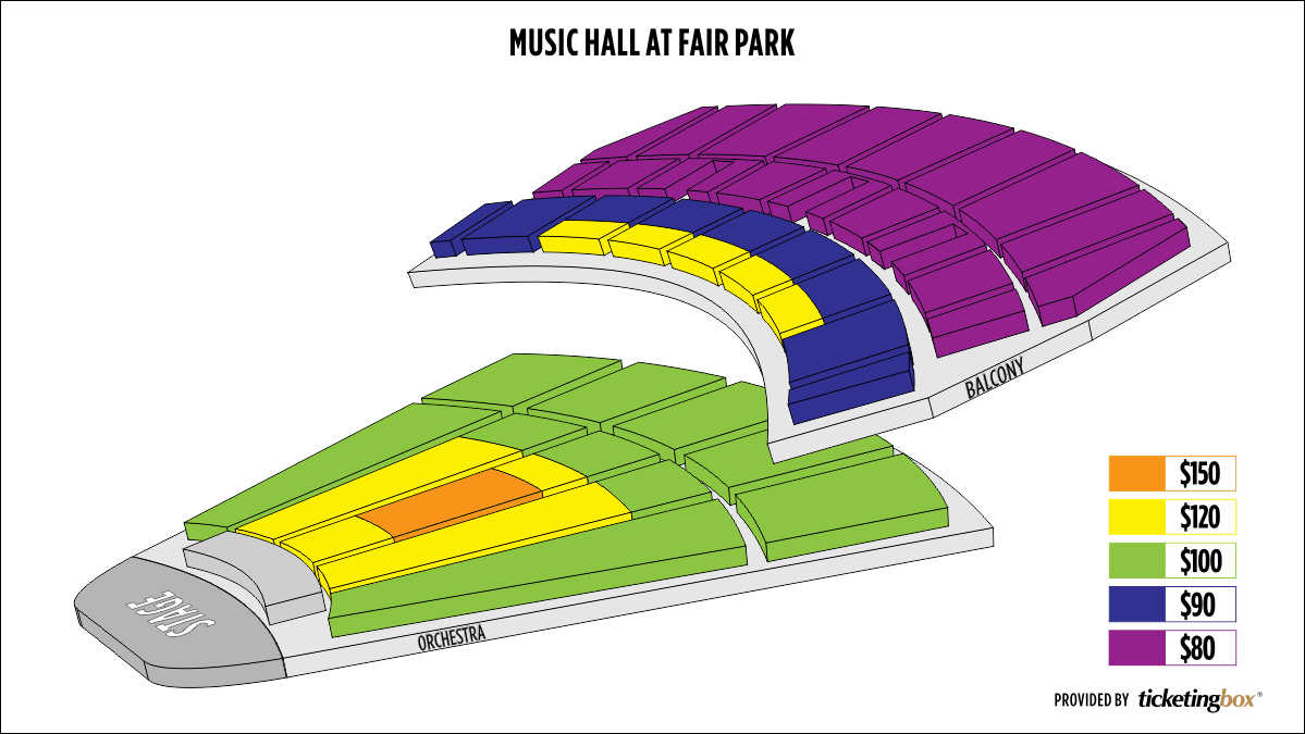 Shen Yun Dallas–Music Hall at Fair Park Music Hall at Fair Park Seating Chart