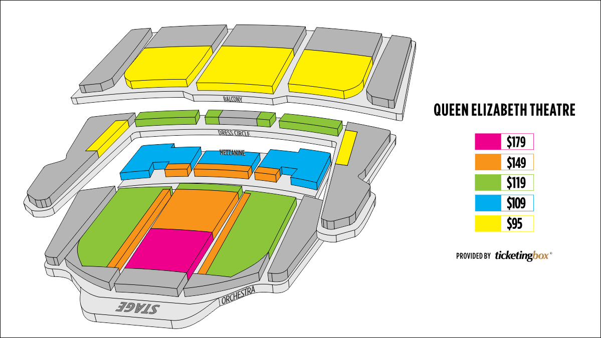 Shen Yun Vancouver Queen Elizabeth Theater Seating Chart
