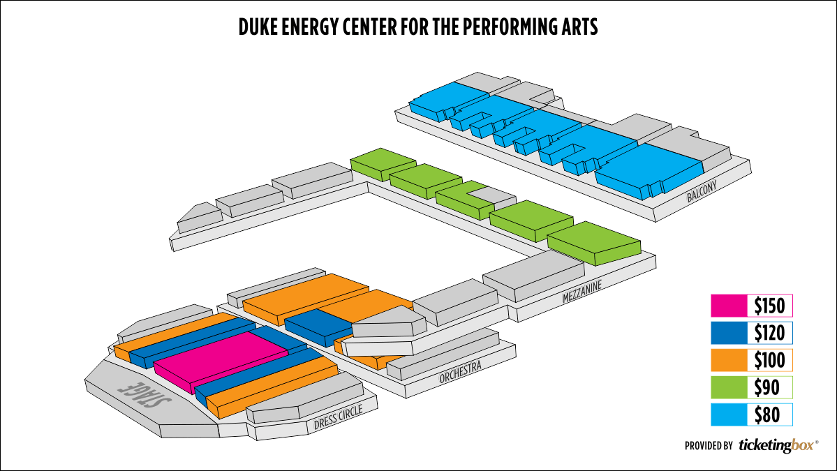 Shen Yun Raleigh Duke Energy Center for the Performing Arts–Raleigh Memorial Auditorium Seating Chart