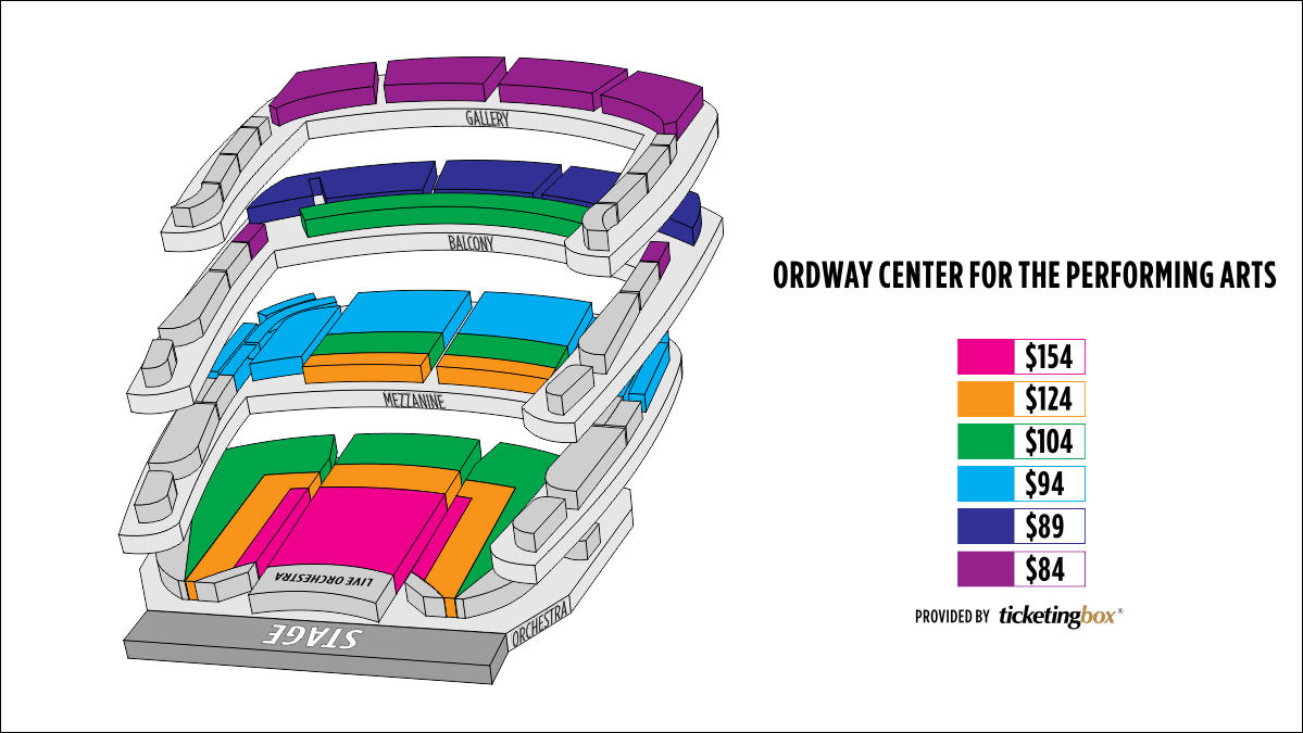 Shen Yun St. Paul Ordway Center for the Performing Arts Seating Chart