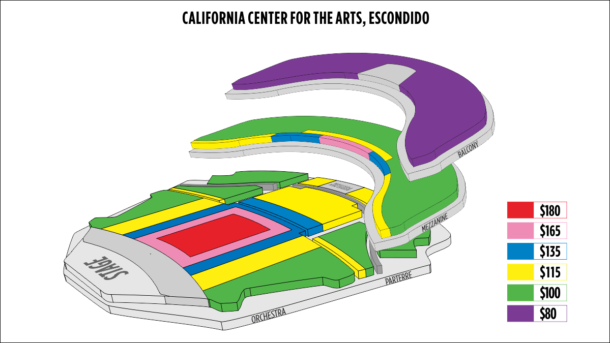 Shen Yun Escondido California Center for the Arts Seating Chart