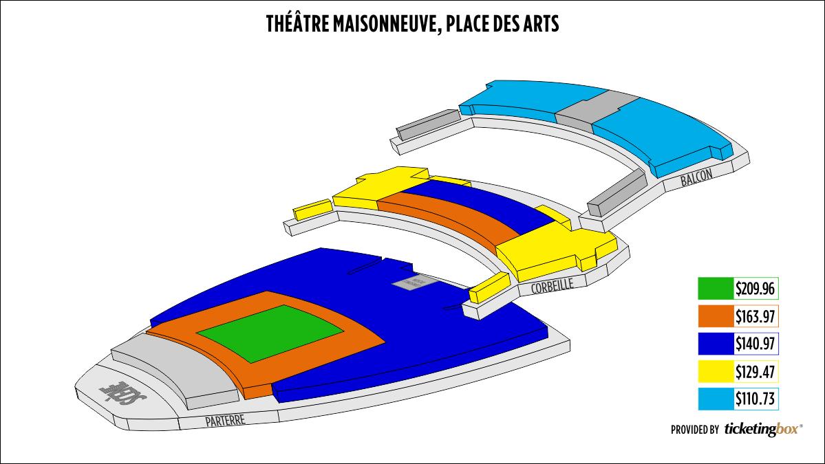 Shen Yun Montreal Place des Arts - Théâtre Maisonneuve Seating Chart