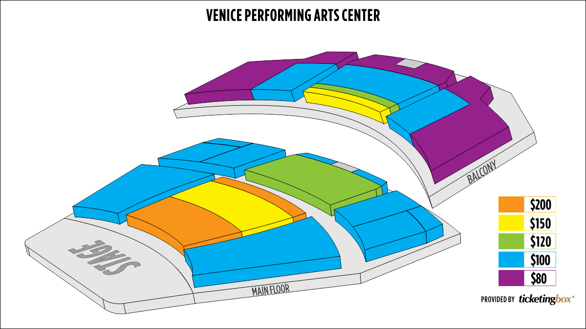 Seating Chart Venice Performing Arts Center