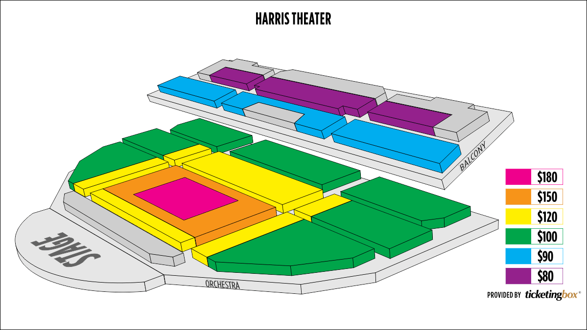 Chicago harris theater seating chart