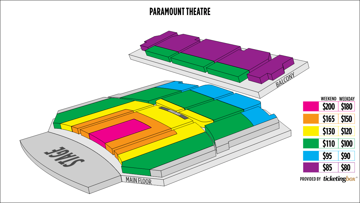 Shen Yun Aurora Paramount Theatre Seating Chart