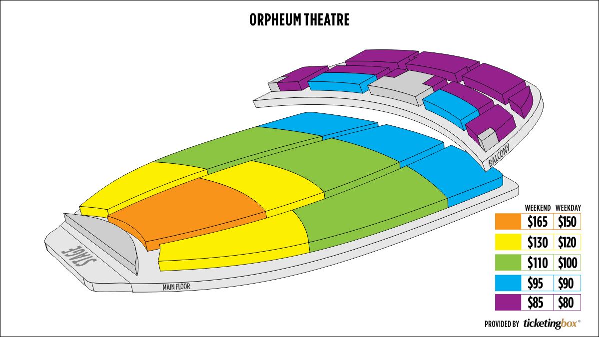 Shen Yun Phoenix Orpheum Theatre Seating Chart