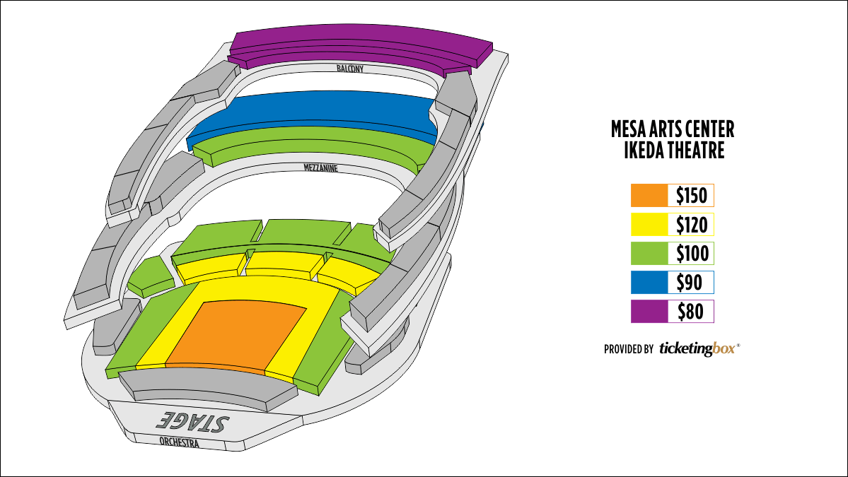Shen Yun Mesa lkeda Theater Seating Chart