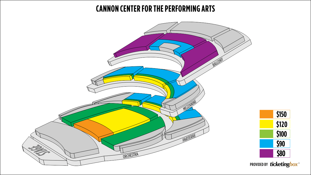 Shen Yun Memphis Cannon Center for the Performing Arts Seating Chart