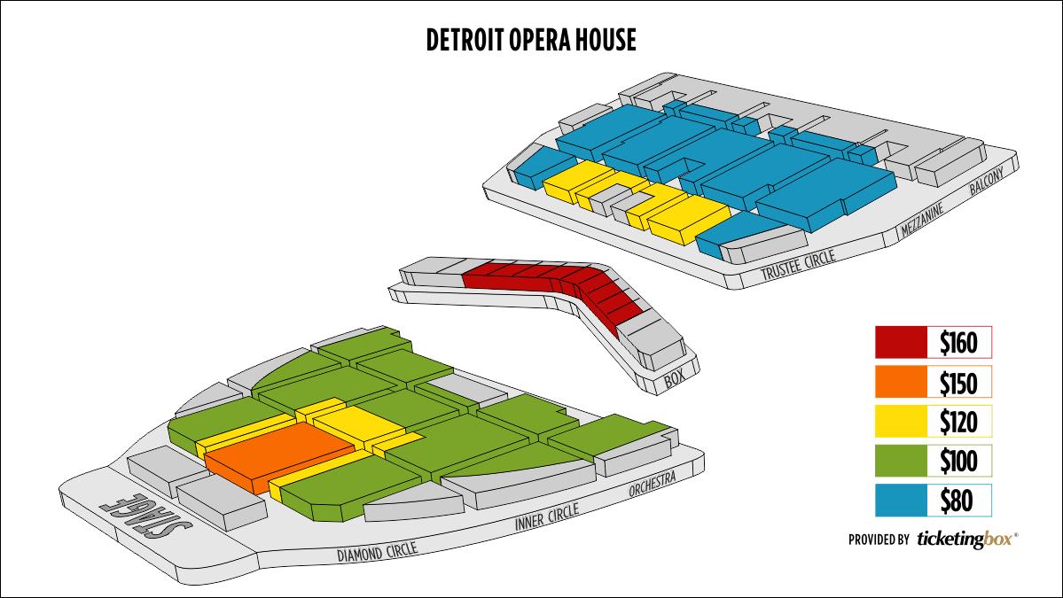 Shen Yun Detroit 底特律歌剧院 Seating Chart