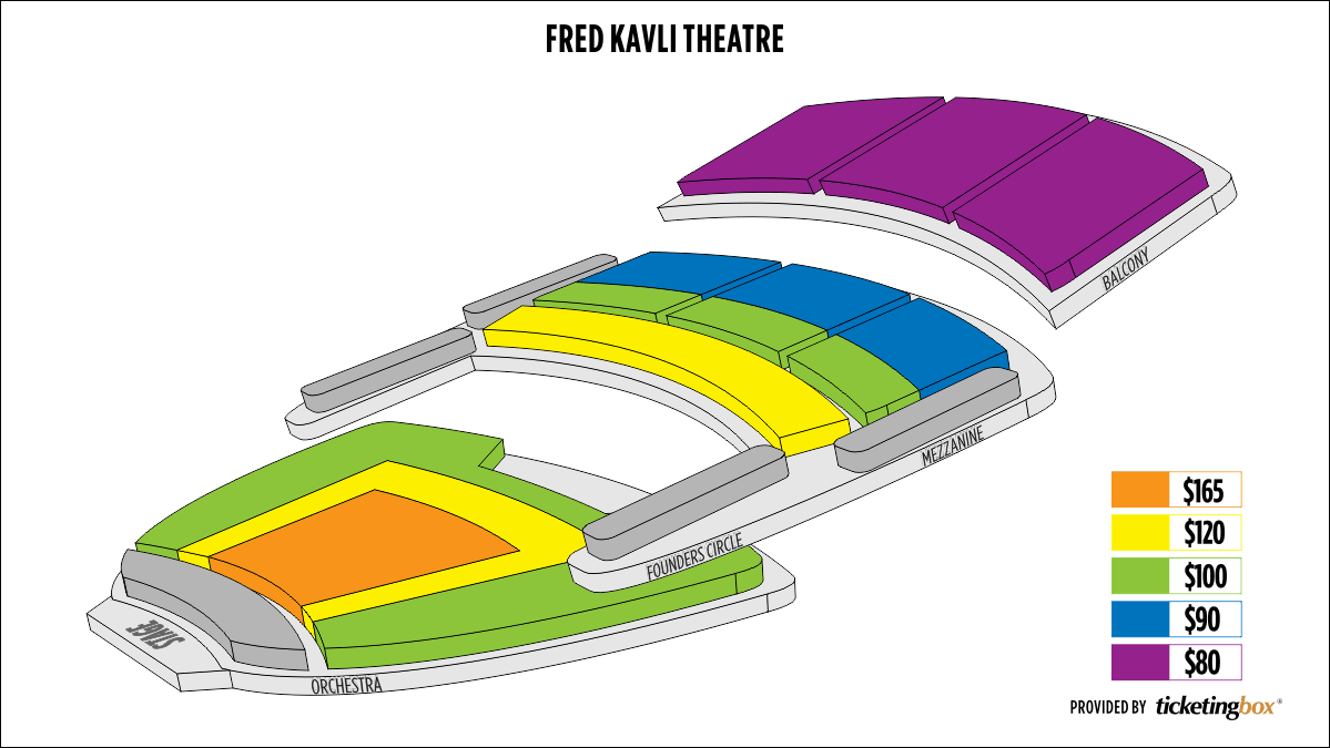Seating Chart The Fred Kavli Theatre