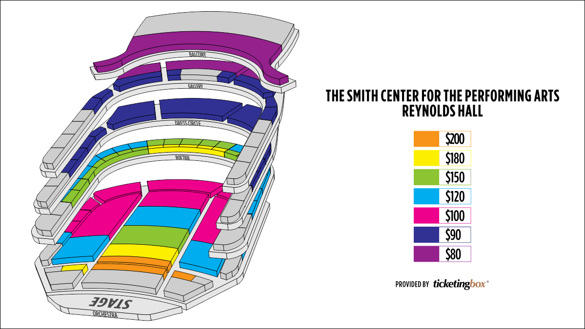 Shen Yun Las Vegas The Smith Center for the Performing Arts Seating Chart