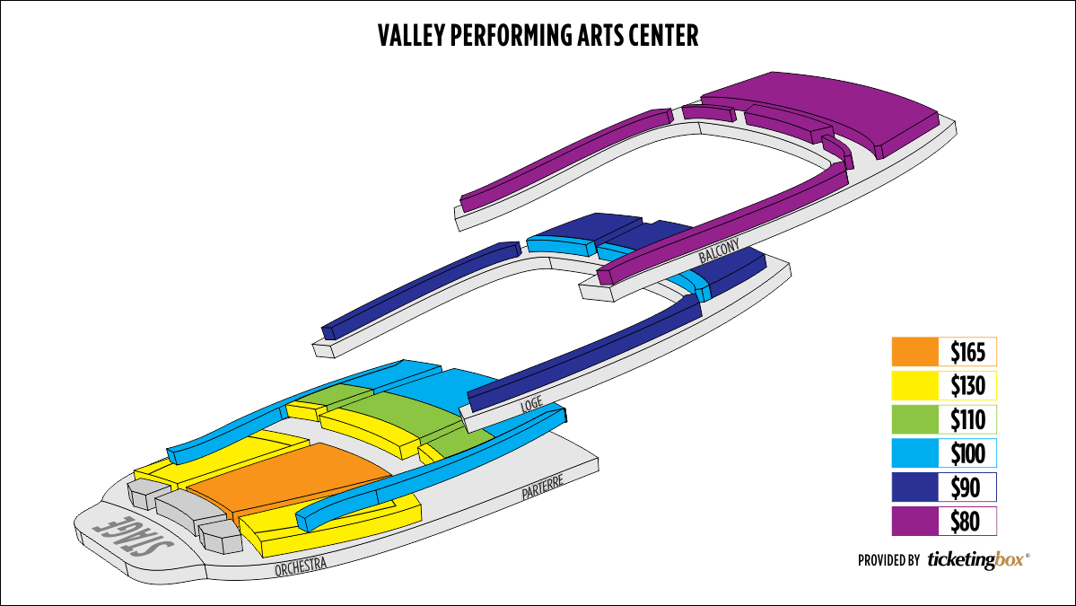Shen Yun Northridge Valley Performing Arts center Seating Chart