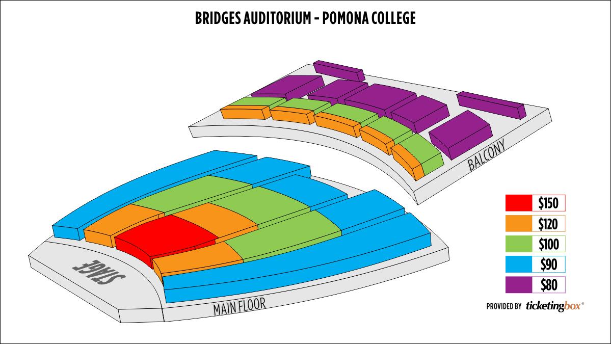 Shen Yun Claremont Bridges Auditorium - Pomona College Seating Chart