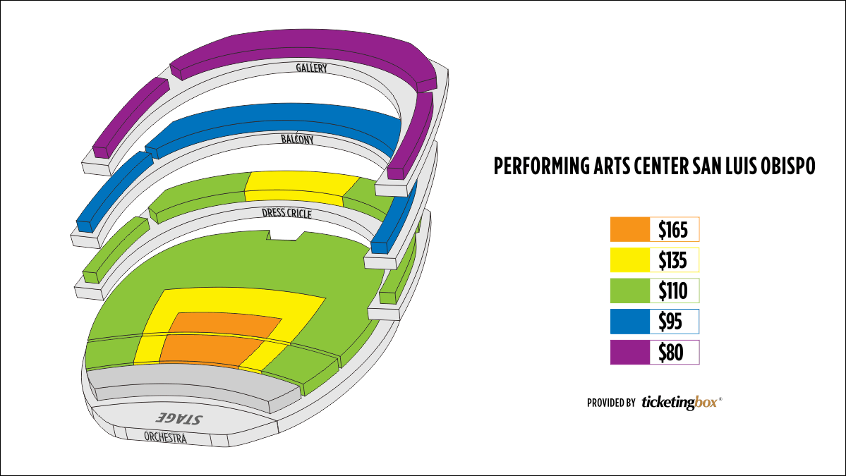 Shen Yun San Luis Obispo Performing Arts Center San Luis Obispo Seating Chart