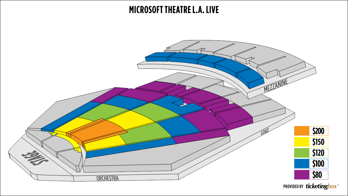 Shen Yun Downtown LA Microsoft Theater L.A. Live Seating Chart