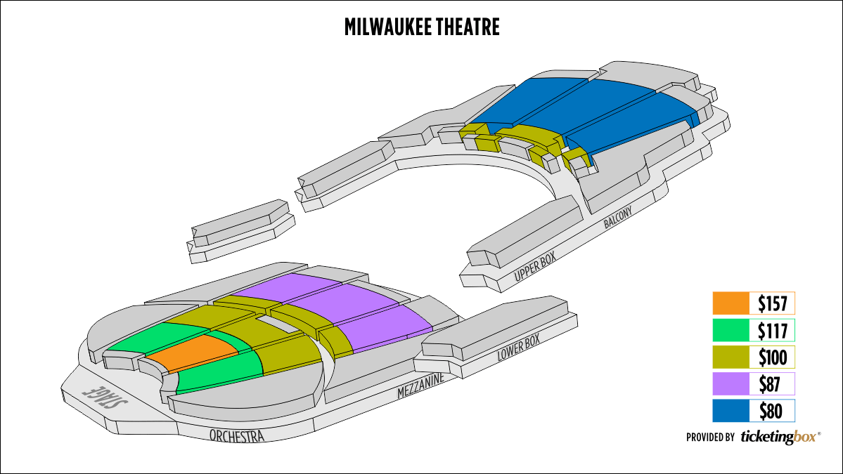 Shen Yun Milwaukee Miller High Life Theatre (formerly Milwaukee Theatre) Seating Chart
