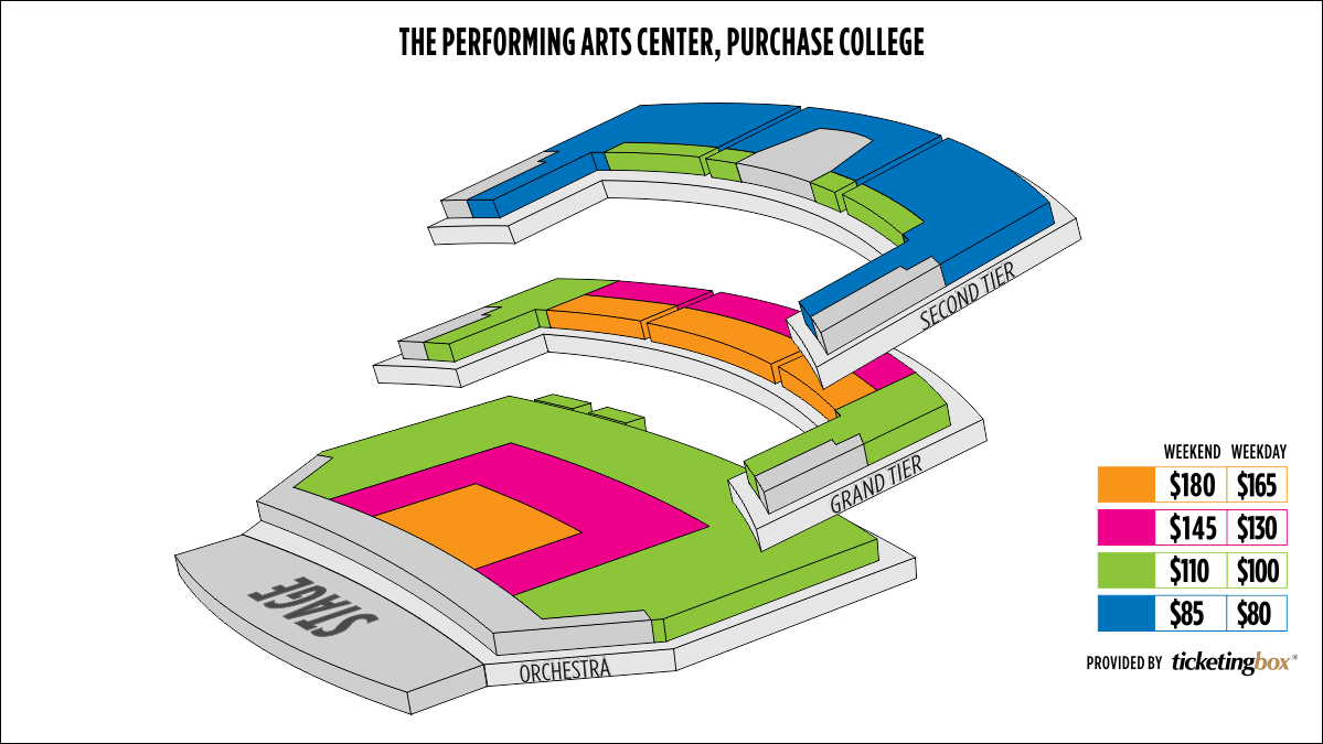 Shen Yun Purchase The Performing Arts Center, Purchase College SUNY Seating Chart