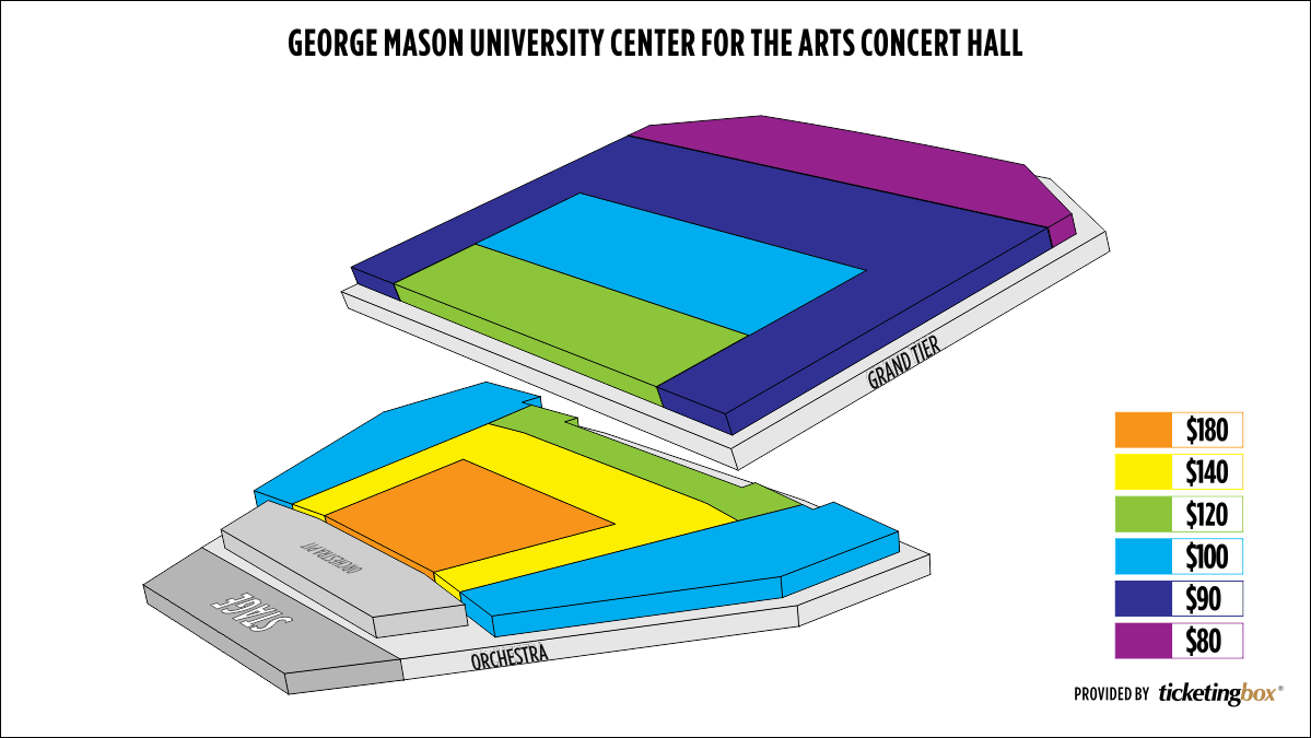 Shen Yun Fairfax George Mason University Center for the Arts Concert Hall Seating Chart