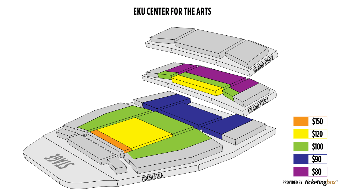 Shen Yun Richmond (Kentucky) EKU Center for the Arts Seating Chart