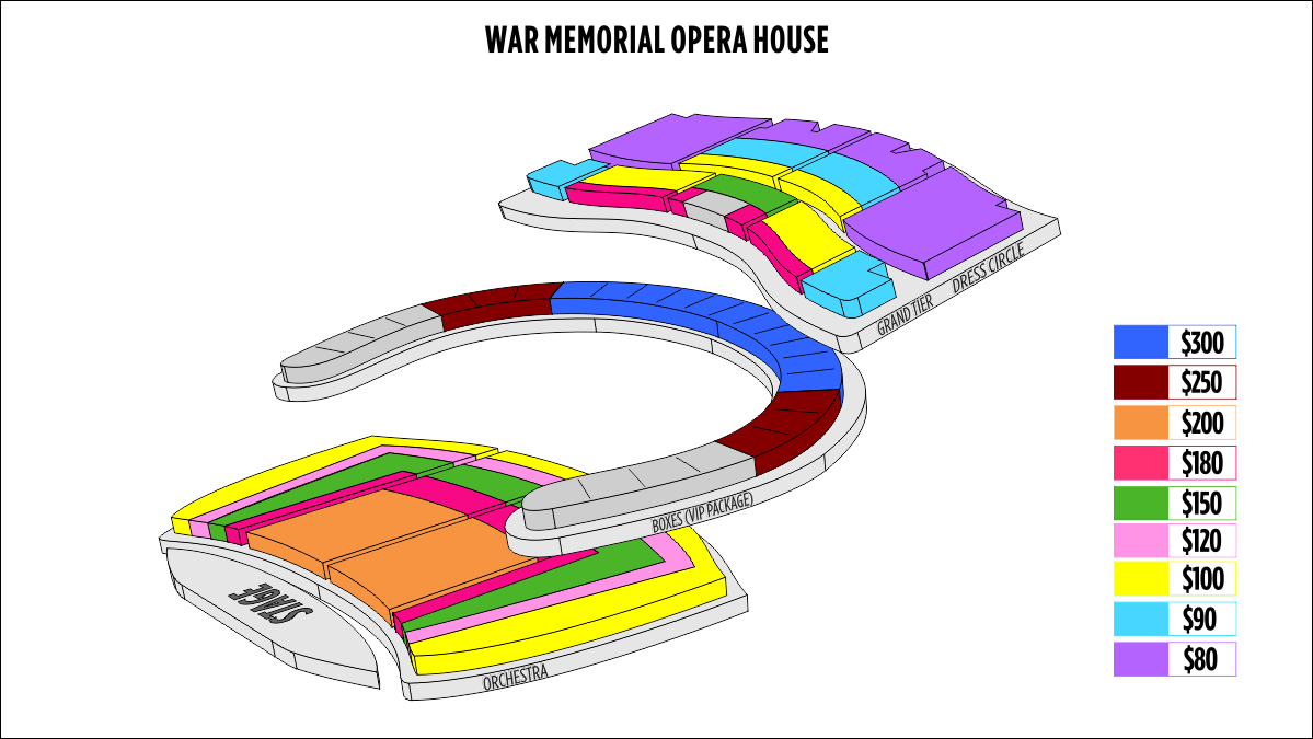 San francisco war memorial opera house seating chart
