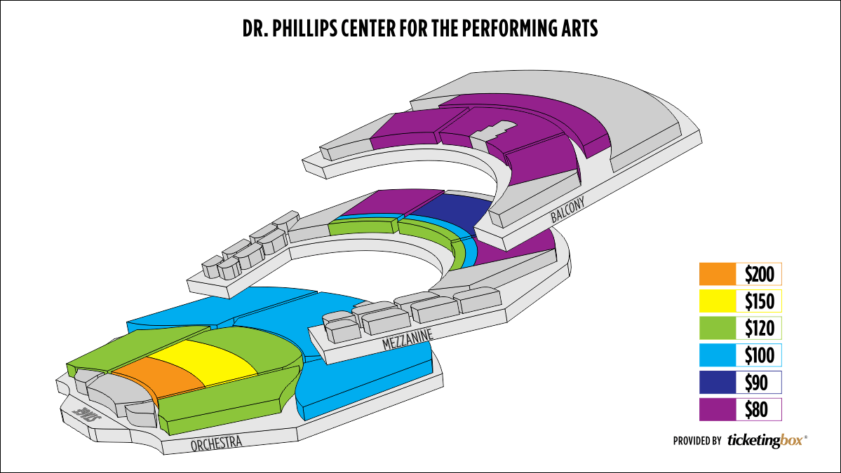 Dr Phillips Performing Arts Center Seating Map Awesome Home