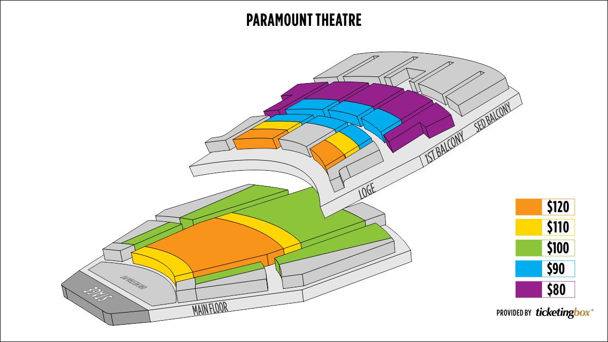 Cedar Rapids Paramount Theatre Seating Chart