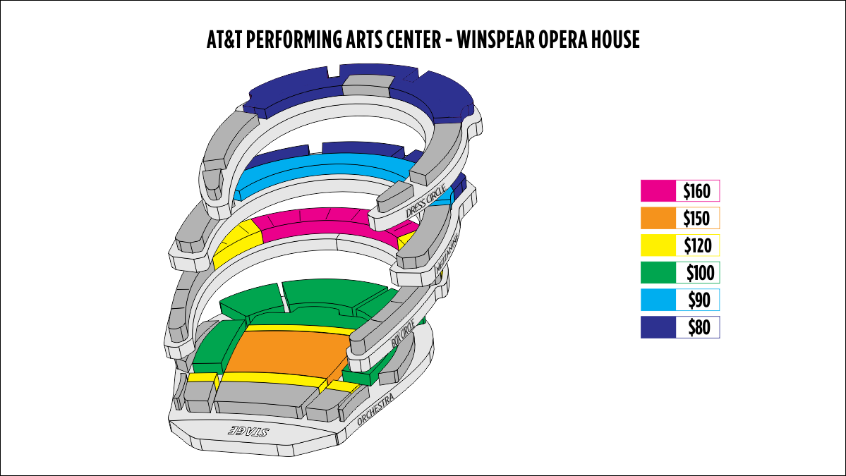 Shen Yun Dallas–Winspear Opera House AT&T Performing Arts Center–Winspear Opera House Seating Chart