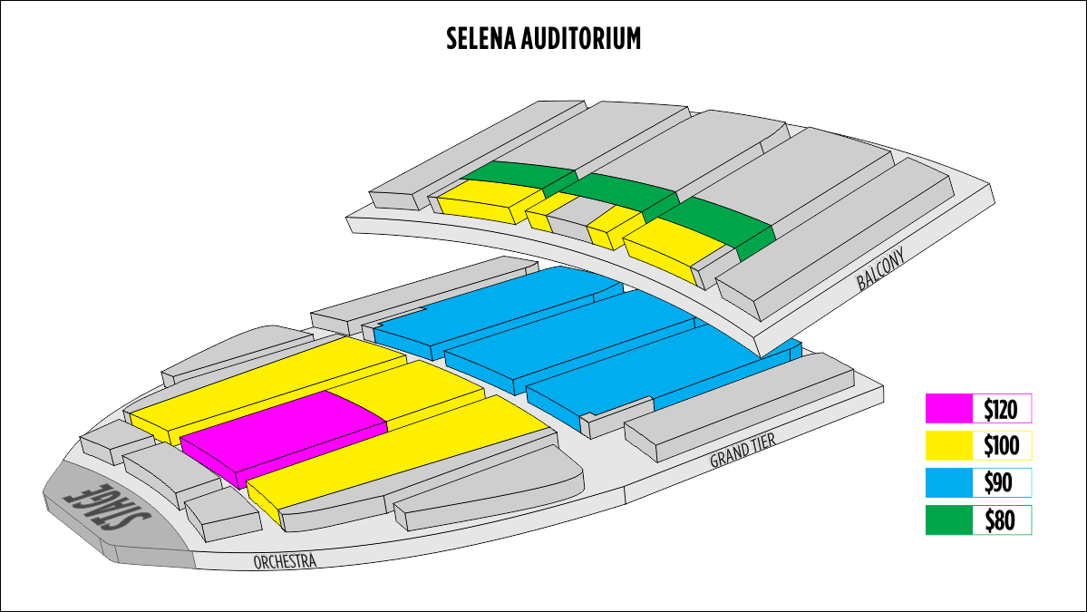 Seating Chart American Bank Center Selena Auditorium