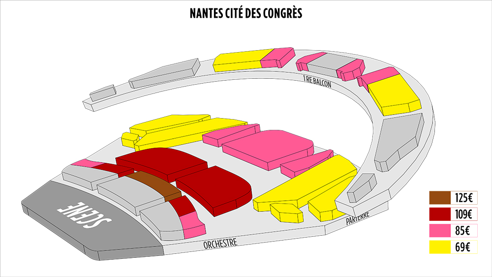 Shen Yun Nantes Cité des Congrès de Nantes Seating Chart