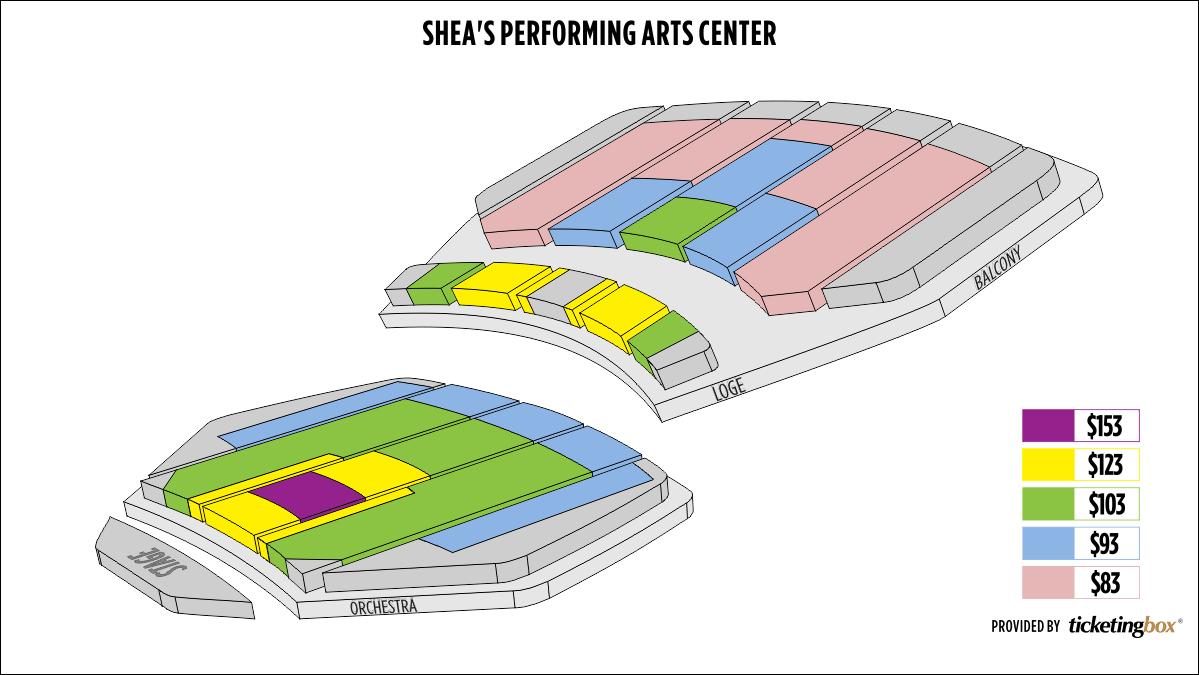 Shen Yun Buffalo Shea's  Performing Arts Center Seating Chart